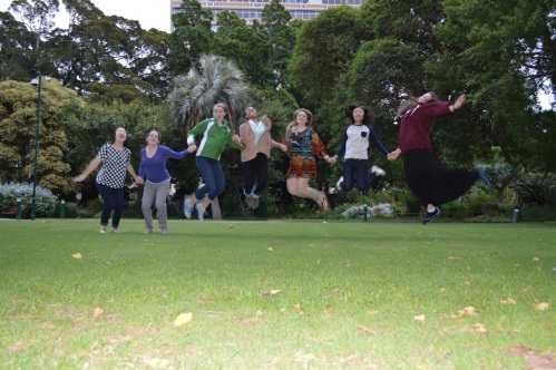 Jumping Photo - from our park/garden adventure