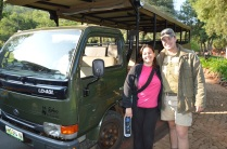 Ms. Fulton and our safari guide, Jared