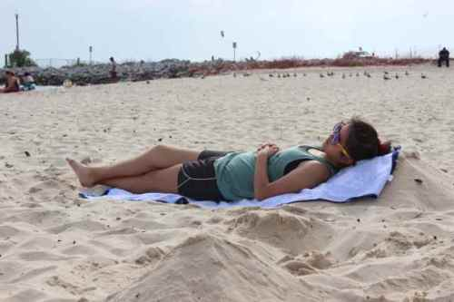 Favorite beach pastime, napping!