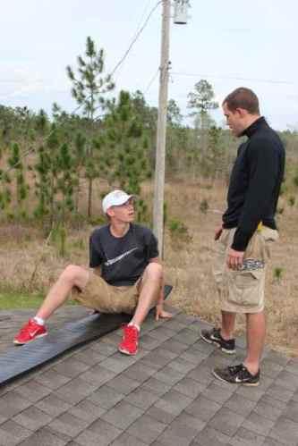 Ridge cap- Don't fall off...