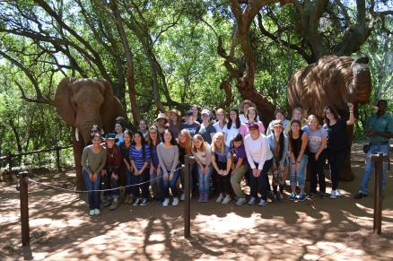 The whole group and our elephant friends