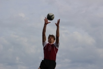 Sawyer catching the ball in a line out
