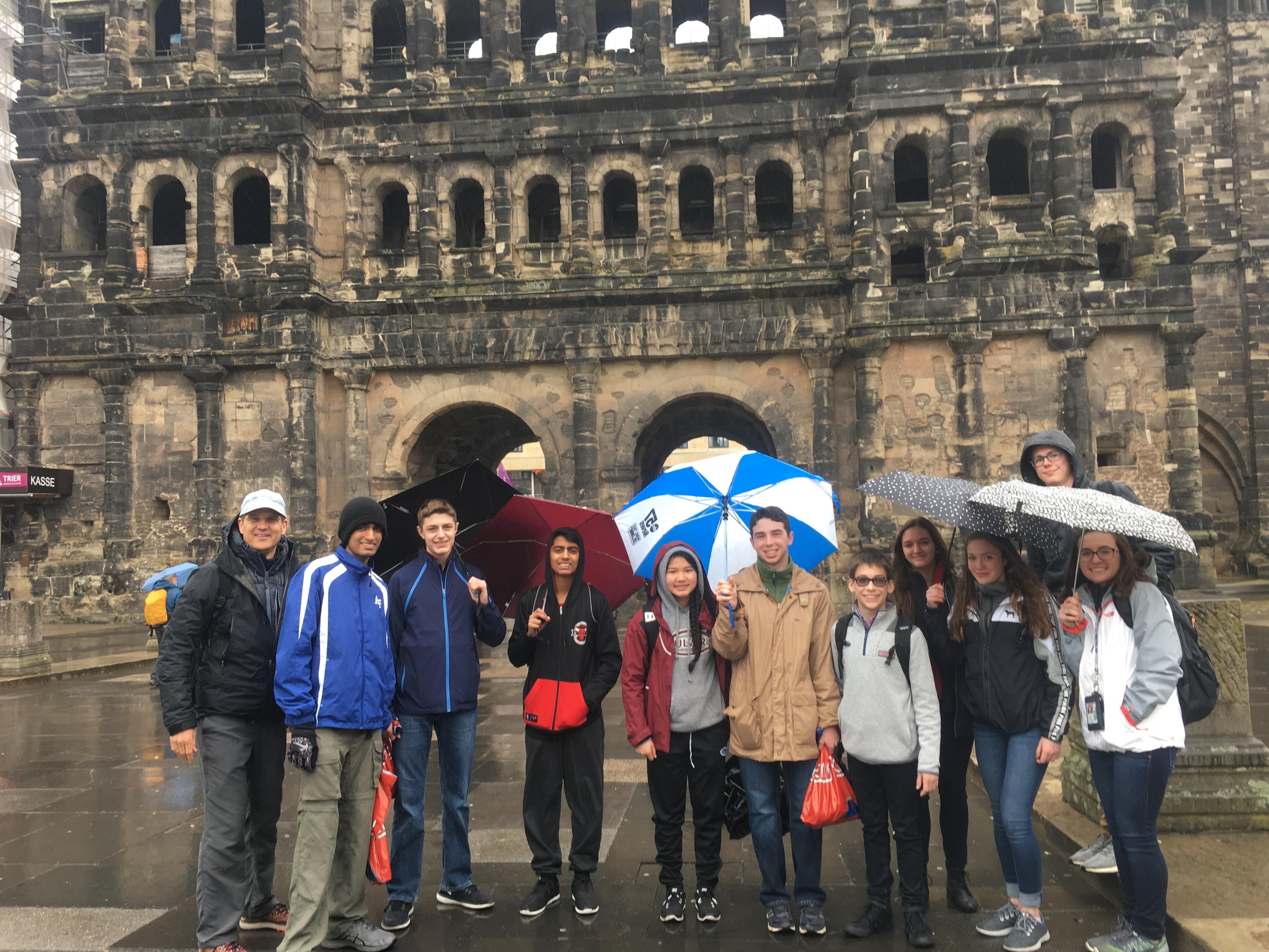Trier group in rain keeper